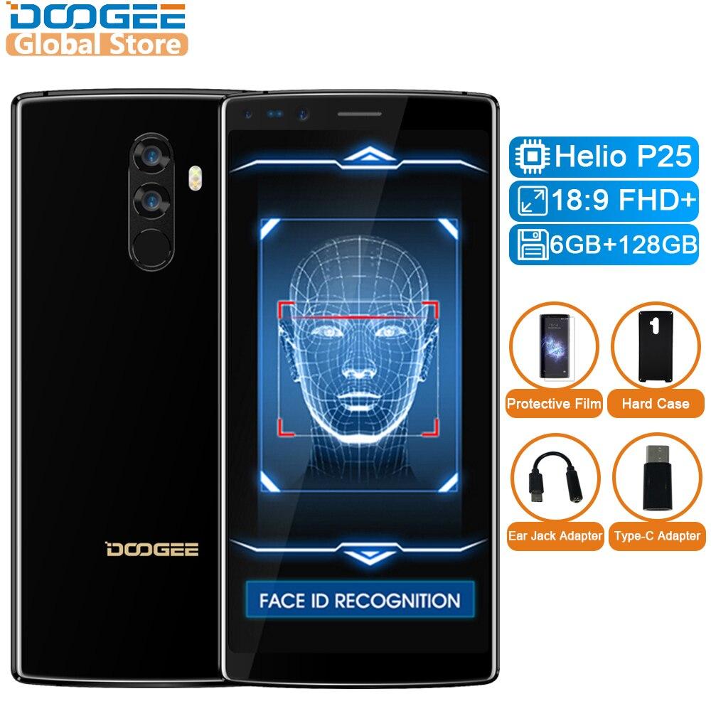 Originale DOOGEE Della Miscela 2 Android 7.1 4060 mah 5.99 ''FHD + Helio P25 Octa Core 6 gb di RAM 128 gb ROM Smartphone Quad Camera 16.0 + 13.0 mp
