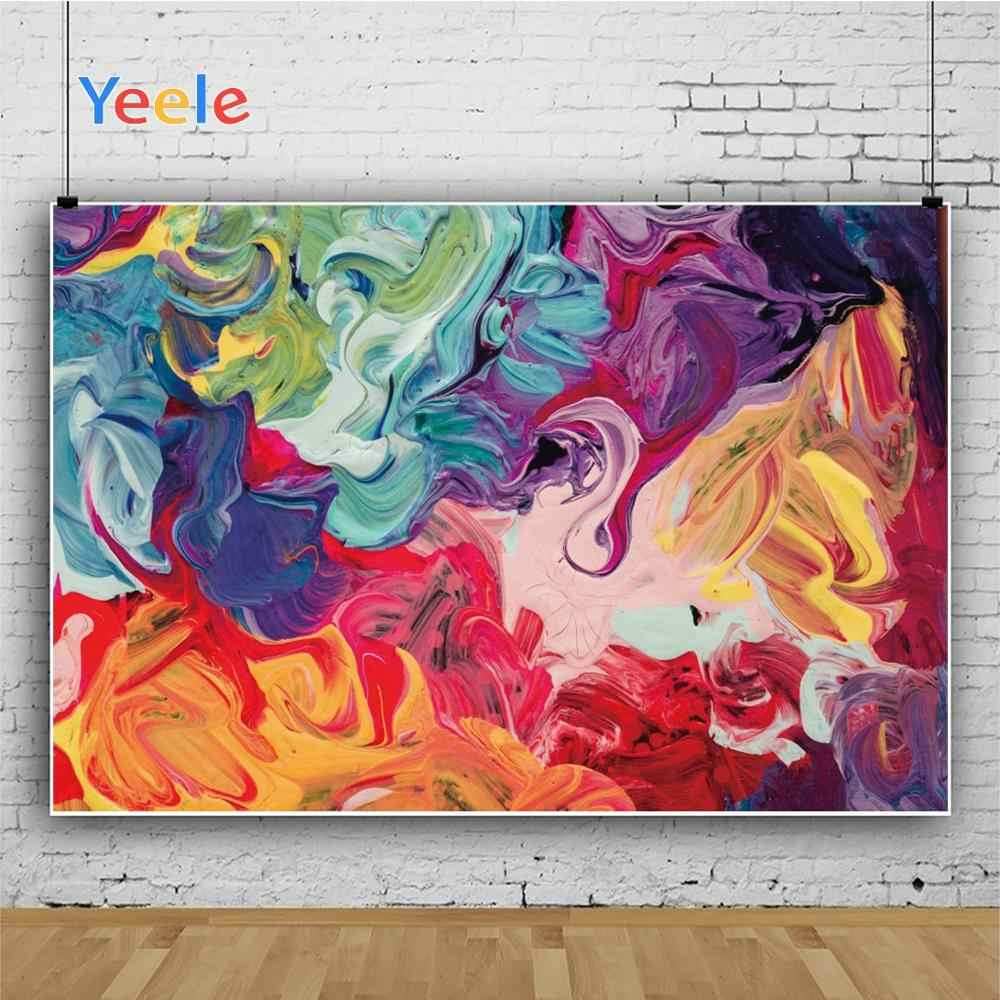 YEELE Abstract Art Decorative Photography Backdrop Fluid Art Marble Artistic Portrait Background Wedding Birthday Western Geographical Theme Photoshoot Prop Photo Booth Wallpaper 10x8ft
