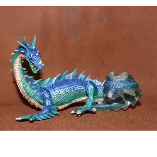 PVC figure Doll model toy The simulation model toy  Myths and legends sea Dragon Blue Dragon steven heston l  the heston model and