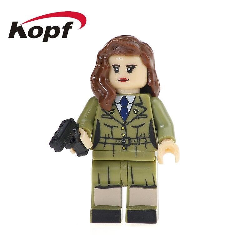 Super Heroes Sharon Carter Agent13 Hydra Agent Dick Grayson Model Bricks Action Figures Building Blocks Toys for children KL037