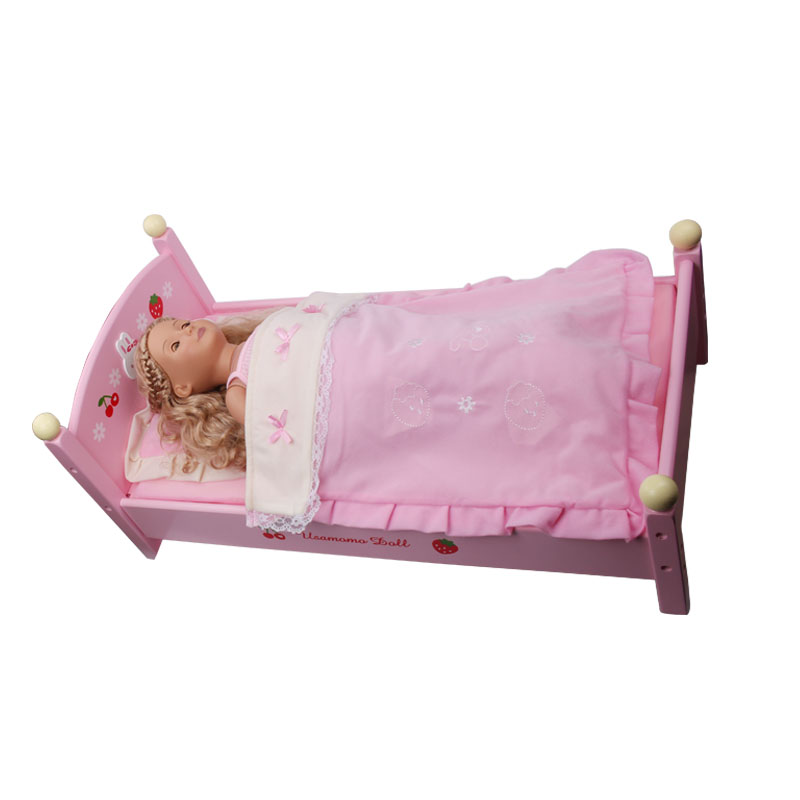 Doll Bed 18 Inch American Girl Doll Bed Pink Quilt Doll Toy