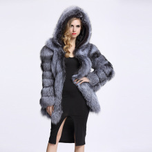 Coat Winter Jacket Faux-Fur ZADORIN Plus-Size Women Outerwear Hooded Fashion Warm Thick