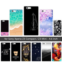 for Sony Xperia Z3 Compact Mini D5803 D5833 Soft TPU Cases Clear Silicone Sunrise Back Cover for Sony Xperia Z3 Mini Coque(China)