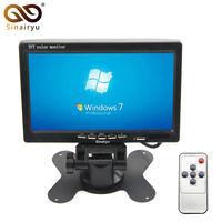 Sinairyu HD 7 800 480 Car Rearview Parking Monitor TFT Color Auto Headrest Video Player With