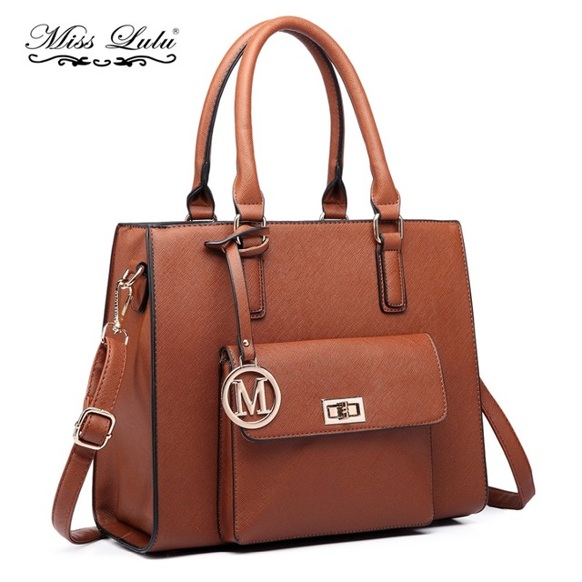 11462292233 Miss Lulu Women Designer Luxury M Handbags Female PU Leather Tote Bags  Ladies Cross Body Shoulder Messenger Satchel LT6635
