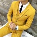 Envío del nuevo Coreano delgado discoteca cantante masculino etapa traje estilista hombres de la moda de la boda vestido de traje de $ number piezas set trajes masculino