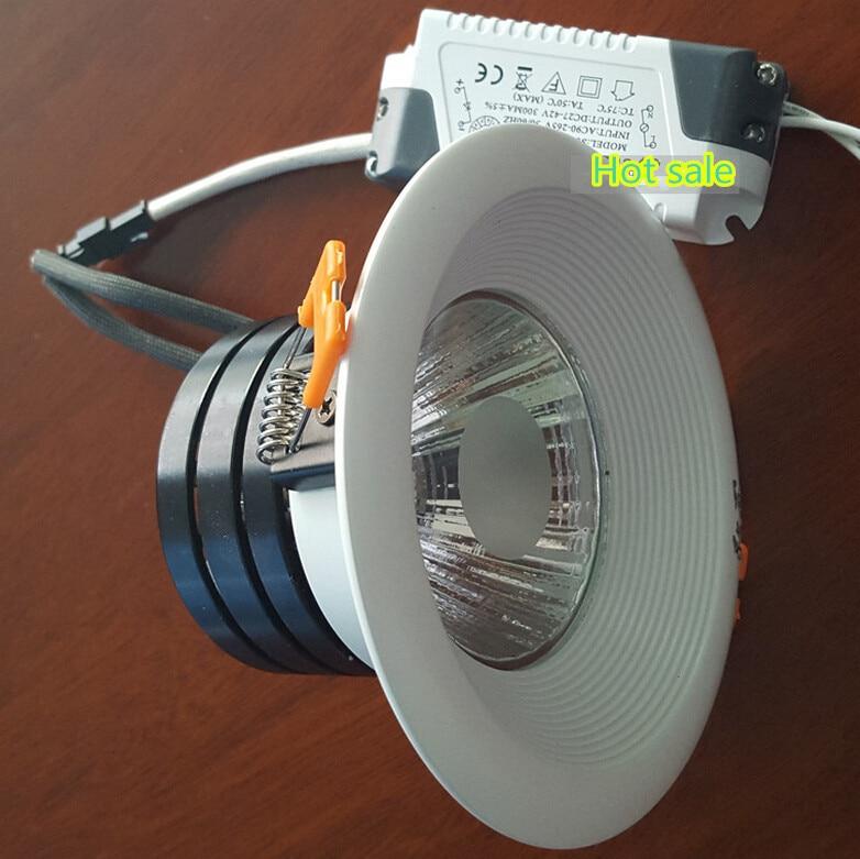 Pabrik produk penjualan Panas Putih shell 12 W Dimmable Hangat Dingin Putih  COB Led down light COB Led Langit-langit Tersembunyi Lampu AC85-265V CE ccf7c69932