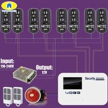 Spaans voice GSM SMS 100M Bedrade Perimeter Alarmsysteem Infrarood Balken voor Huis Tuin Garage Alarmsysteem