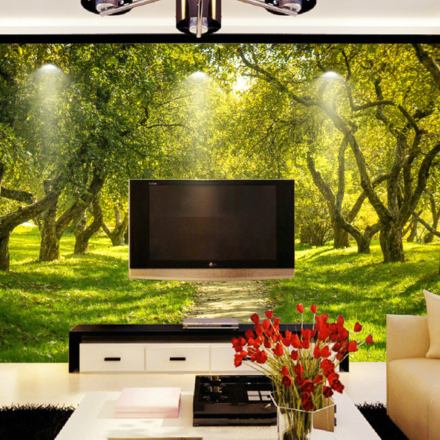 costom 3d wallpaper TV wall art nature landscape photo wall murals ...