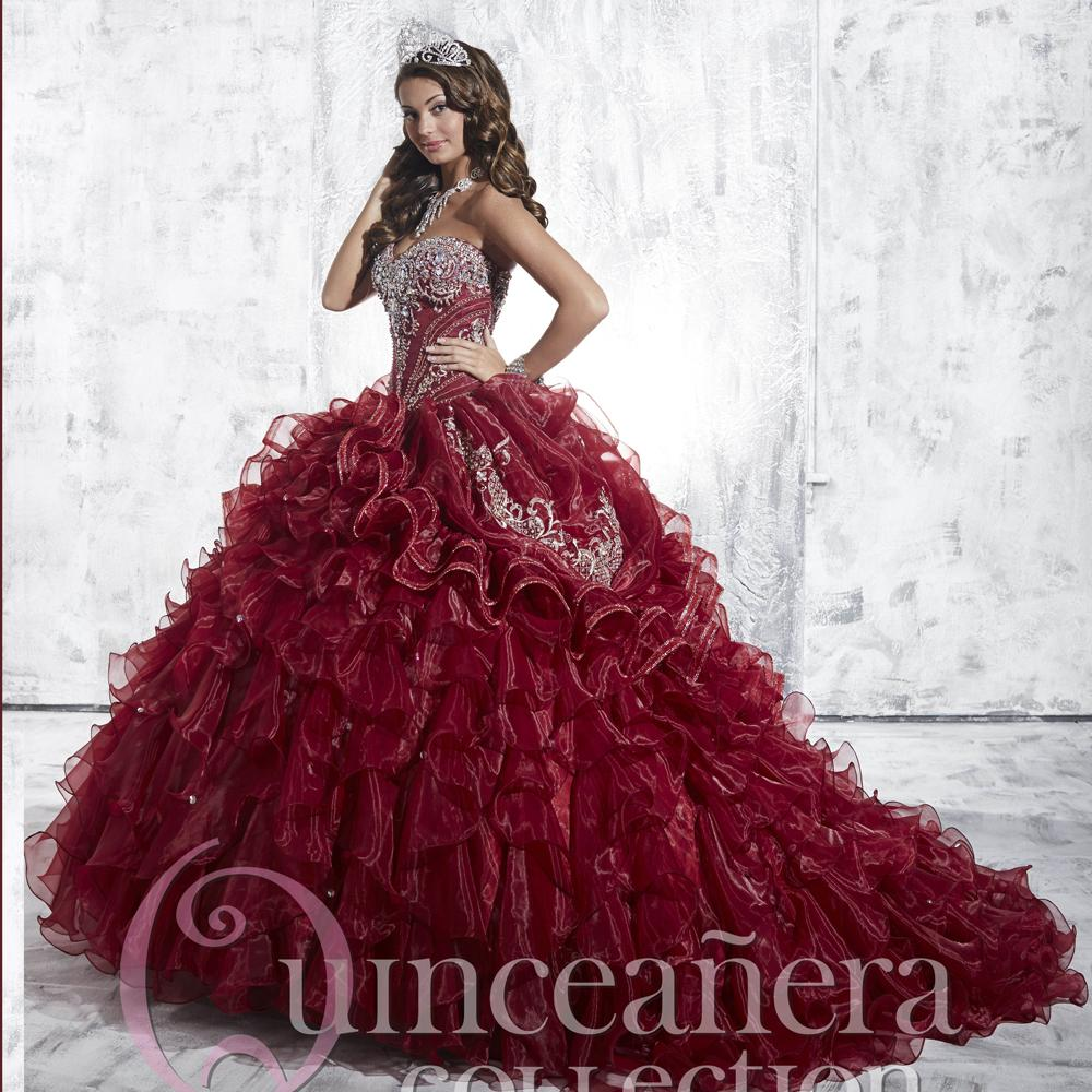 Popular Dark Red Quinceanera Dresses - 154.5KB