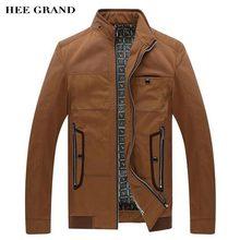 HEE GRAND Jacken Für Männer 2017 Neue Casual Style Stehkragen Frühling Herbst Dünnen Einfarbig Mäntel Größe M-3XL MWJ2283