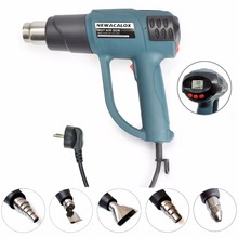 NEWACALOX Smart Control 2000W 220V EU Plug Industrial Heat Gun Shrink Wrapping Electric Hot Air Nozzle