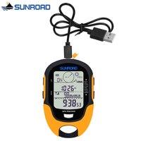 SUNROAD Pocket Watch Women Men Digital LCD Altimeter Barometer Compass Thermometer reloj gps Flashlight Clock USB Rechargeable