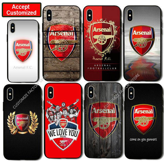 official photos ba8ee b5107 US $4.41 11% OFF|Shell Cover Case for iPhone 5 5S SE 6 6S 7 8 Plus X XS Max  XR Samsung Galaxy Note 8 9 S6 S7 S8 S9 Edge Plus Arsenal Case-in Fitted ...