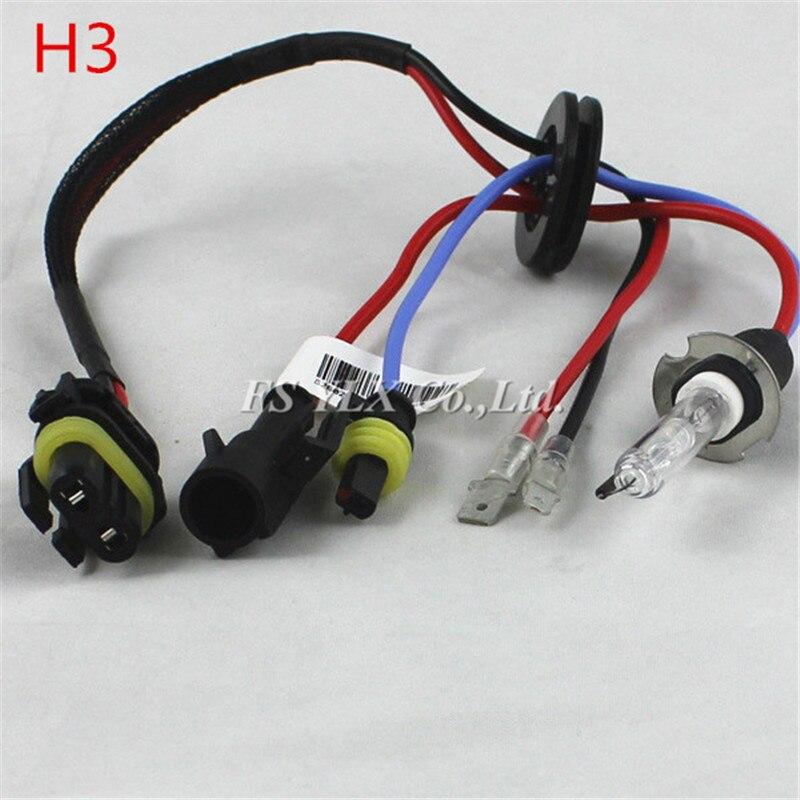 FSYLX 55 Вт H7 H3 H11 9005 9006 HID ксеноновая лампа замена налобный фонарь 4300K 6000K 8000K автомобиль авто HID Xenon H7 фар головного света