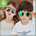 2017 Time-limited Square Children Girls Stainless Steel Plastic Children's Sunglasses Yurt Baby Resin Factory Direct Cool