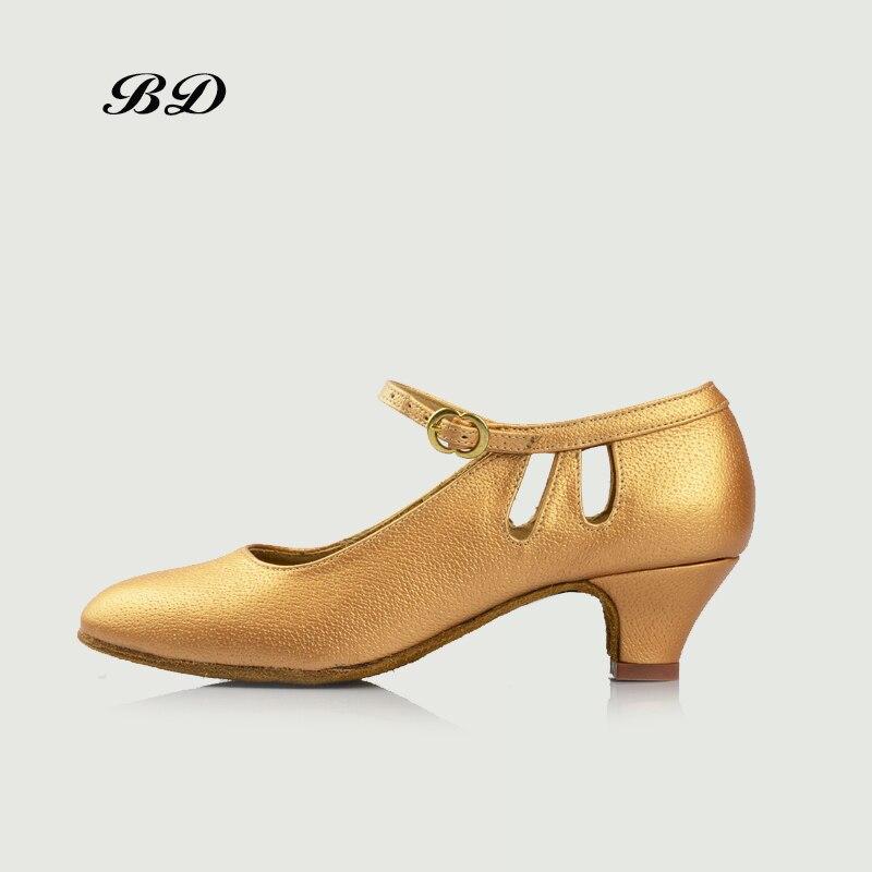 BD 502 Children DANCE SHOES Latin Shoes Ballroom Shoe Modern JAZZ Girl Student Low Heel 4.5 CM Medium Beige COLOR 25--39 SIZE bd latin dance shoes sports shoes ballroom shoe modern oxford cloth straight sole wearable 301 jazz slip up heel 2 5 cm bdsalsa