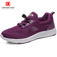 DAIBU Summer NEW ARRIVAL Old People Shoes Non slip Soft Sole Breathable Mesh Shoes Woman Elderly Comfortable Sneakers