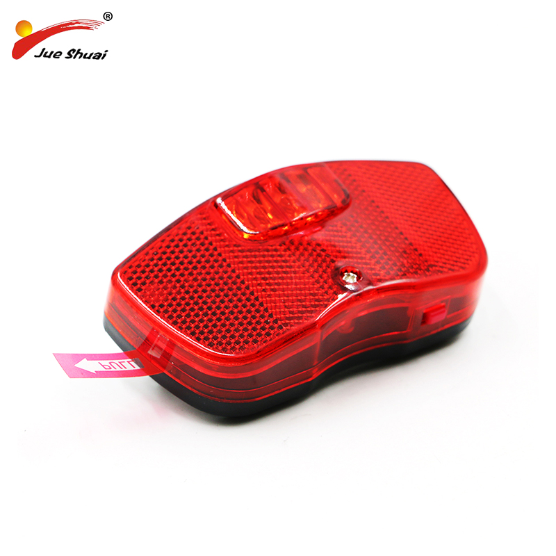 Bicycle LED Tail Light Bike Light For Rear Rack Carrier Safety Warning Lamp Battery Bike Bicycle Lighting Cycling Accessories