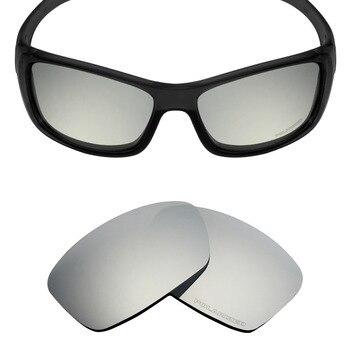 0d929ab323 Mryok + polarizadas resistir mar reemplazo Objetivos para Oakley hijinx  Gafas de sol Silver Titanium