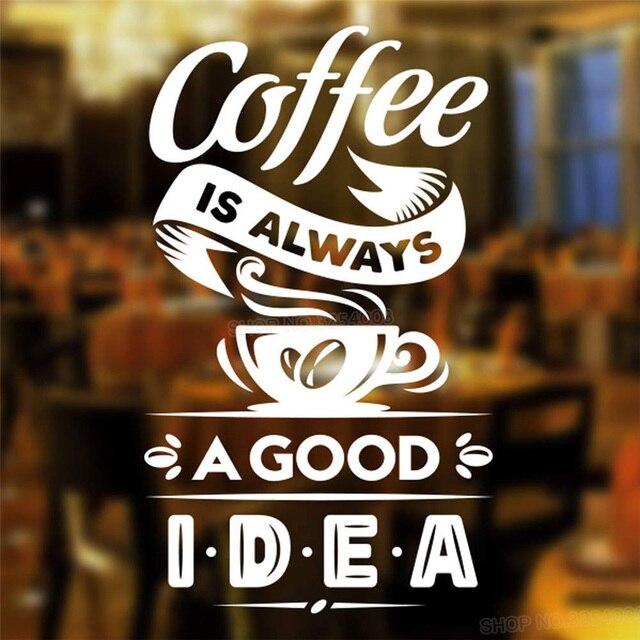 Winylowe wymienny naklejki ścienne kawy jest zawsze dobry pomysł, do kawy sklep znak kubek restauracja drzwi dekoracja okienna L809