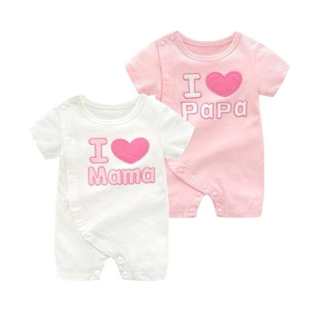 86a5da5cd 2PCs lot twins infant girl newborn clothes for babies cotton i love ...