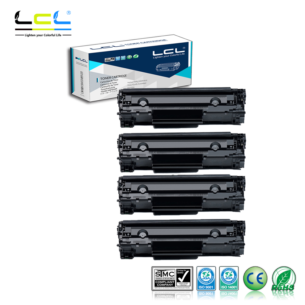 LCL 35A CB435A 35 A CB435 435A CB 435 A (4-Pack Black) 1500 Pages Laser Toner Cartridge Compatible for HP LaserJet P1005/P1006 cs h6511a bk toner laserjet printer laser cartridge for hp q6511a 6511a q6511 11a 2400 2410 2420 2420n 2420d 2420dn 6k pages