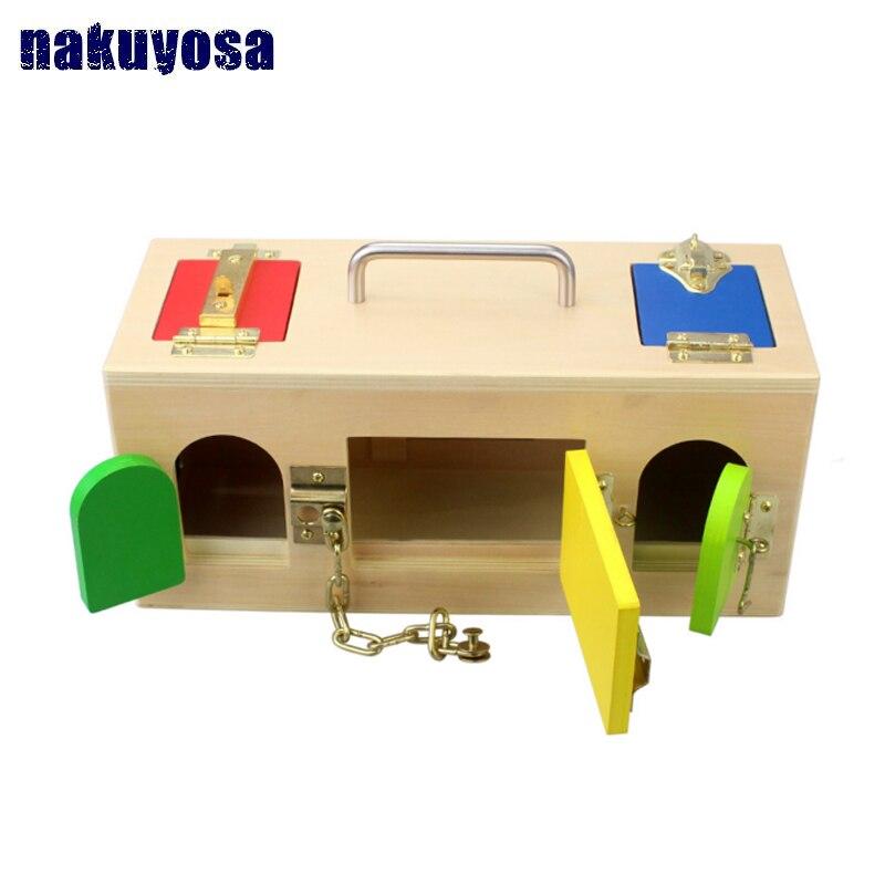 1-3 ans déverrouiller jouet Montessori enseignement aides petite enfance Intelligence jouets éducatifs enfants apprentissage et éducation enfants cadeau