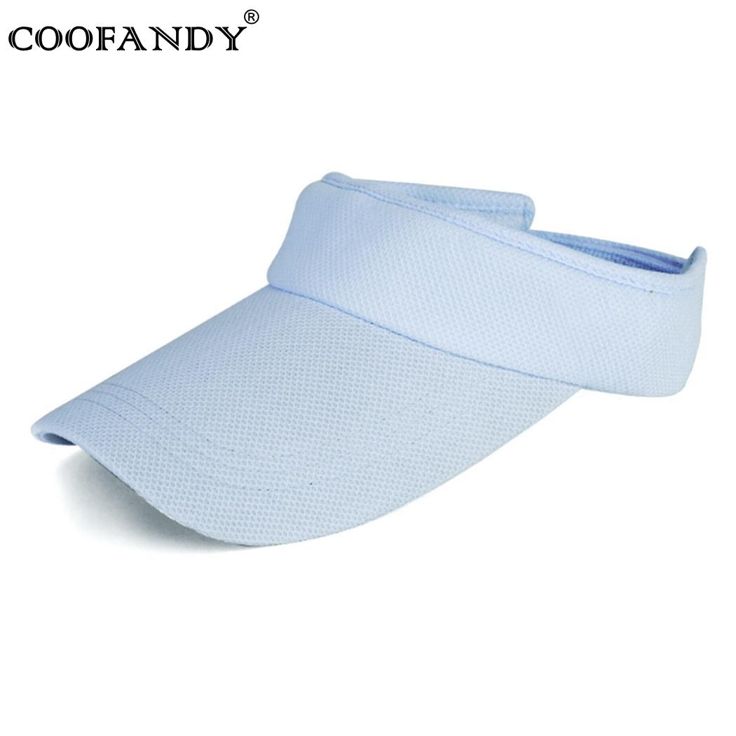 Cap 7 Colors Unisex Men Women Adjustable Beach Golf Tennis Sports Visor Sun Plain Hat New