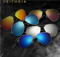 VEITHDIA Aluminum Magnesium Mens Sunglasses Colorful Polarized Sun Glasses Male Classic Eyewear Accessories For Men 3026