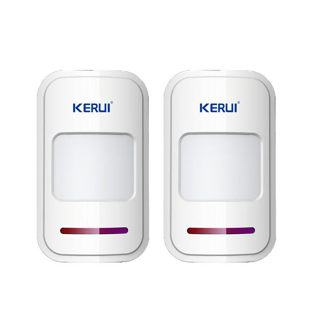 2pc KERUI 433Mhz Wireless Intelligent PIR Motion Sensor Detector For GSM PSTN Home Alarm System without antenna Infrared