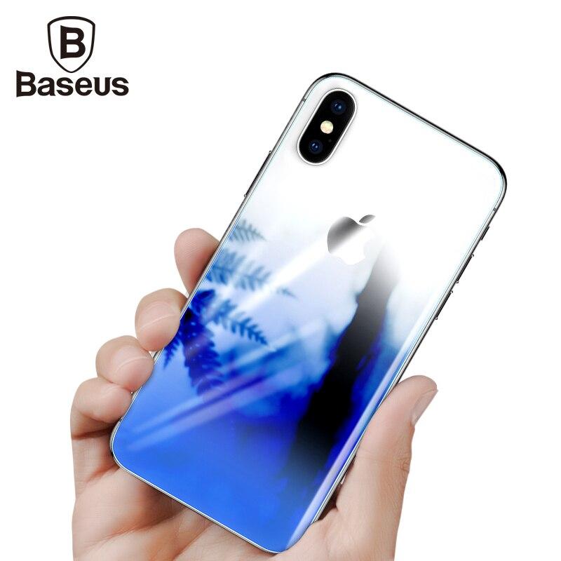 Baseus Posteriore Protezione Dello Schermo In Vetro Temperato Per iPhone 10 Ultra Sottile Sfumatura Anti Scratch Posteriore Temperato Film di Vetro Per iPhoneX