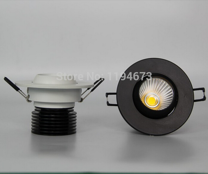 Free Shipping Dimmable 15W LED COB Ceiling Down light Lmap Warm Cold White Recessed LED Lamp White Shell CE Certificate 85 265V in LED Bulbs Tubes from Lights Lighting