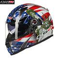 LS2 Fiberglass Motorcycle Helmet Full Face Street Motobike Motocicleta Cacapete Casco Casque Kask FF396F Men Racing Helmets ECE