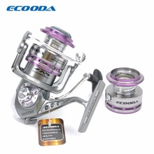 ECOODA Royal Sea Spinning Fishing Reel Metal Body Two Aluminum Spools Saltwater and Freshwater Open Face