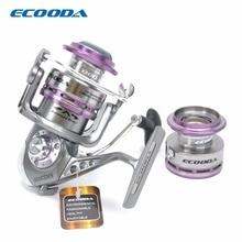 ECOODA carrete De Pesca de Spinning Real Cuerpo de Metal Carretes Dos Aluminio ERS1500 Carrete de Agua Salada y de Agua Dulce Gran Open Face/3000