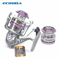 ECOODA Royal Sea Spinning Fishing Reel Metal Body Two Aluminum Spools Saltwater And Freshwater Great Open