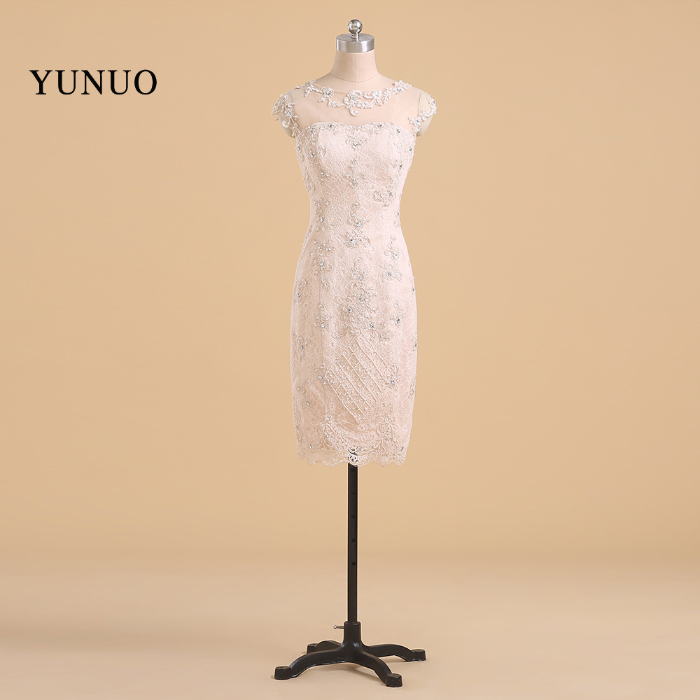 Real Photos Evening Dress Lace Sheath Appliques Cap Sleeve Party ...
