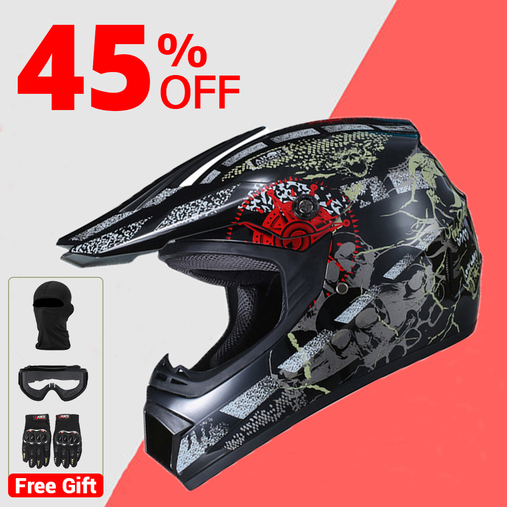 Motorcycle Helmet Motocross Off Road Helmet Moto Casco Men Full Face Helmet Motocross Racing Motorbike Free Shipping With Gift goer men military sport clock male business skeleton clocks automatic mechanical watches top brand luxury mens wrist watch