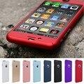Caso para iphone 6 bolsos del teléfono 360 grados cubierta posterior de cuerpo completo caso para iphone 6 6 s 4.7 envío templado reemplazo para 7 plus