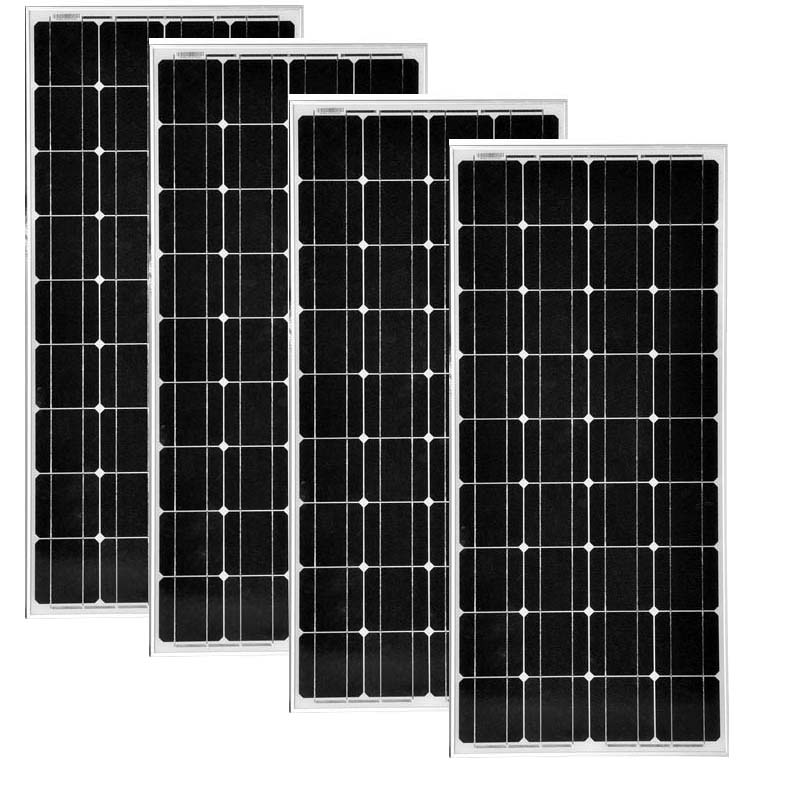 TUV Photovoltaic Panel 12v 100w 4Pcs Panneaux Solaire 48v 400w Solar Battery Charge Boat Car Caravan Lantern Led Motorhome in Solar Cells from Consumer Electronics