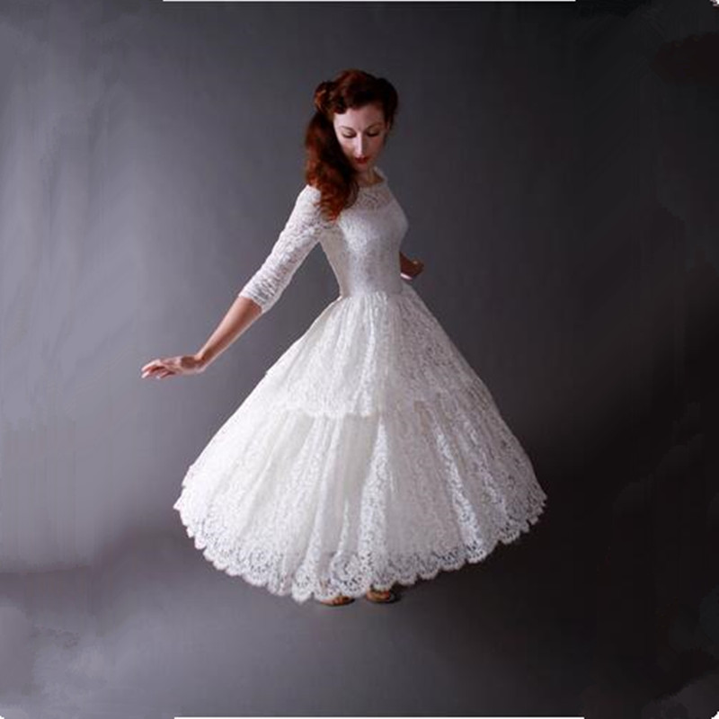 Online buy wholesale 50s style wedding dresses tea length for Cheap vintage style wedding dresses