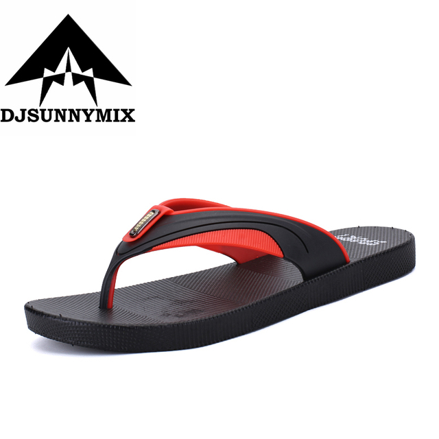 DJSUNNYMIX  2018 Hot Selling Fashion Beach Slippers Flip Flops Mens Slippers EVA Casual Men Shoes Summer sandals