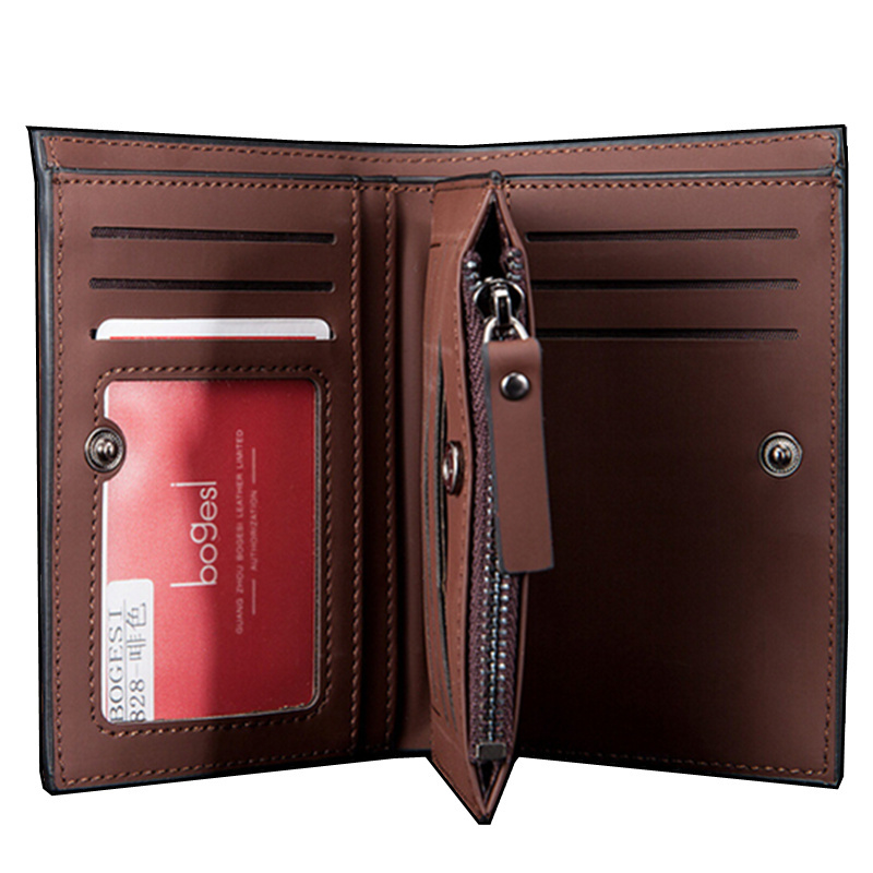 Hot sale Solid luxury Men's leather wallet large capacity purse for man credit card holder with HASP hot sale 2015 harrms famous brand men s leather wallet with credit card holder in dollar price and free shipping