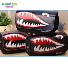 Pencil Capacity of Artificial Leather Pencil Bag School Supplies Wallet Gift Boy Multifunctional Childrens Cartoon Creative Fish