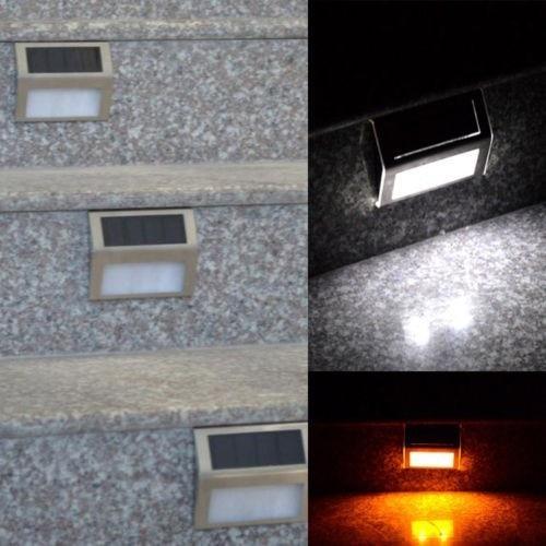 10 pcs lote mini led solar luz ao ar livre solar luzes frio warm white luzes