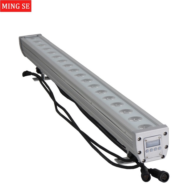18x12w RGBW 4in1 IP65 waterproof 3in1 Led bar Wall Wash Light DMX512 Wash wall Led Outdoor Flood Light DJ Bar Show Stage Light