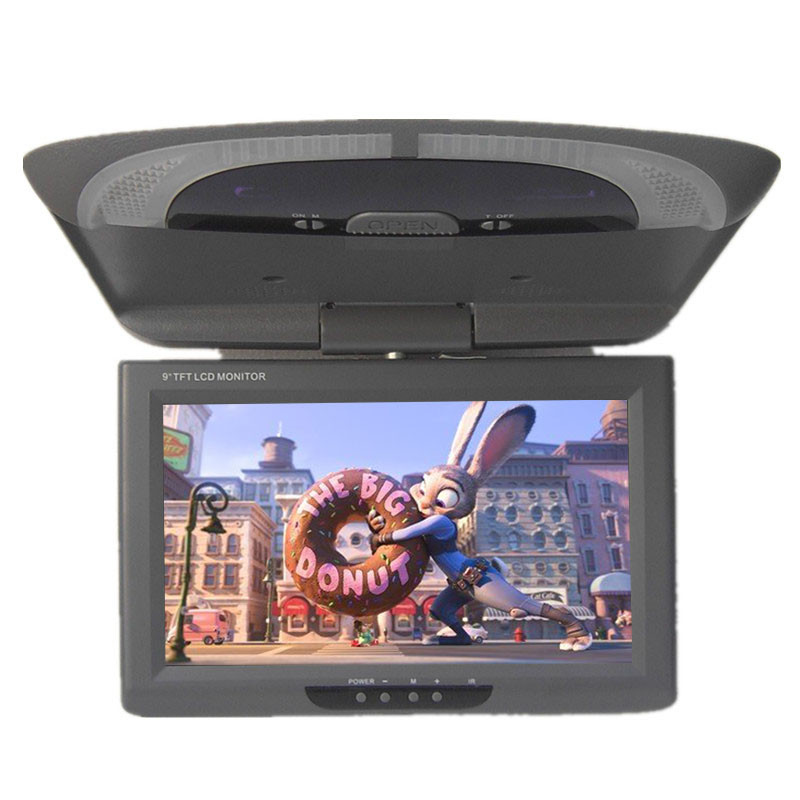 Ultra slim design 9 Inch LED Digital Screen Roof Mount Monitor Overhead monitor with Dual Video Input for Car Bus Three Colors