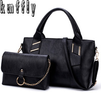 KMFFLY 2018 2Sets Women Luxury Handbags Women Bags Wool Composite Bag Women Handbags Crossbody Bags For