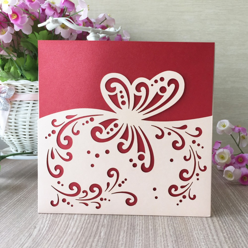 30pcs birthday Wedding Invitation Cards Laser Cut butterfly Party ...